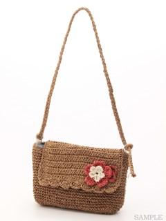 花モチーフ付きペーパーバッグ