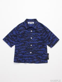 [ジュニアサイズ・h/BOY・ボーイズ]ドッグゼブラプリント6分袖シャツ