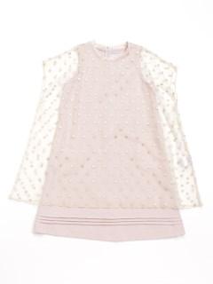 [ジュニアサイズ]asshu・ca チュールレースオーバードレス付きワンピース