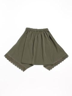 [ジュニアサイズ]裾レースイレギュラーヘムギャザースカート