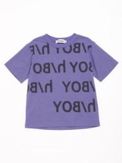 [h/BOY・ボーイズ]ロゴプリント半袖Tシャツ