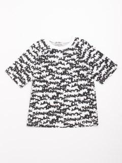 [ジュニアサイズ・h/BOY・ボーイズ]ドッグゼブラプリント5分袖Tシャツ