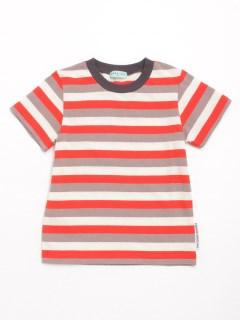 [ボーイズ]マルチボーダー半袖Tシャツ