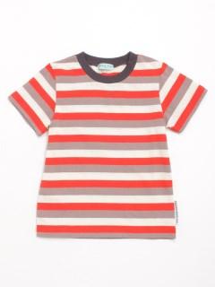 [ジュニアサイズ・ボーイズ]マルチボーダー半袖Tシャツ