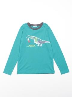 [ジュニアサイズ・ボーイズ]恐竜プリント長袖Tシャツ
