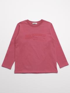 [ボーイズ]h/BOY メッセージ反転プリント長袖Tシャツ