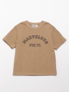 [ボーイズ]h/BOY プリント半袖Tシャツ