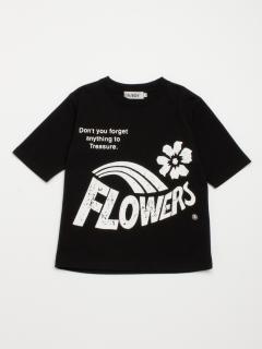 [ボーイズ]h/BOY プリント5分袖TシャツA