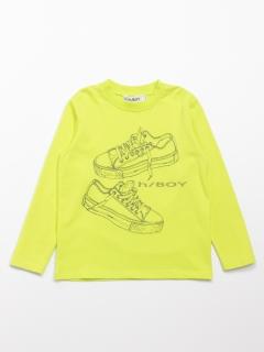 [ボーイズ]h/BOY スニーカープリント長袖Tシャツ