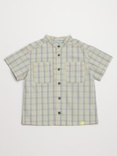 [ジュニアサイズ・ボーイズ]チェックブロード半袖シャツ