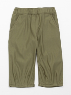 [ジュニアサイズ]ストレッチツイルストレート膝丈パンツ(らくちん)