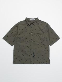 [ボーイズ]h/BOY ランダムスタープリント5分袖シャツ(セットアップ可)
