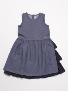 [ジュニアサイズ]ストレッチデニムジャンパースカート