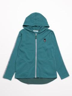 [ジュニアサイズ・ボーイズ]長袖ジップパーカー(UVカット)