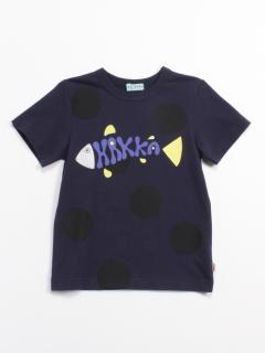 [ボーイズ]海のプリント半袖Tシャツ