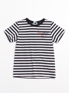 [ジュニアサイズ・ボーイズ]海のプリント半袖Tシャツ