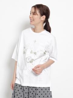 JUN IIDA箔プリントTシャツ