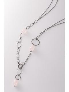 ローズクオーツ ファッションネックレス(AMOUR認定書カード付)