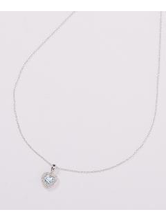 ダイヤモンド&スカイ ブルートパーズハートペンダント(AMOUR認定書カード付)