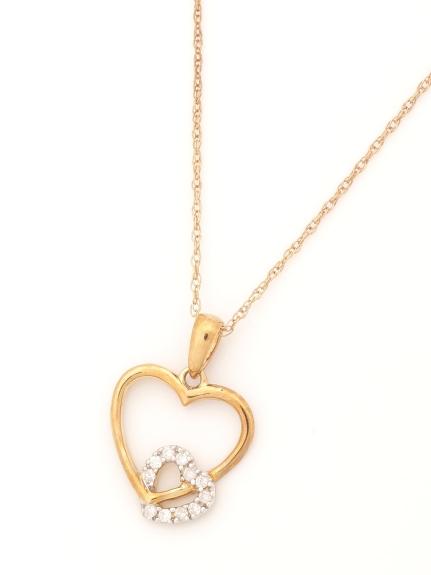 AMOUR (アムール) ハートペンダントネックレス (AMOUR認定書カード付) ダイヤモンド