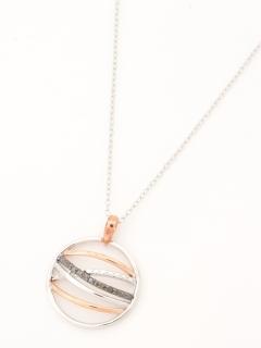 ブラックダイヤモンドファッションペンダントネックレス(AMOUR認定書カード付)