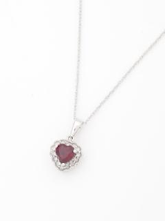 ガーネット&ダイヤモンドネックレス(AMOUR認定カード付き)