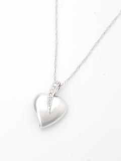 ダイヤモンドハートペンダントネックレス(AMOUR認定カード付き)