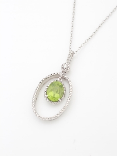 ダイヤモンド&ペリドットペンダントネックレス(AMOUR認定カード付き)