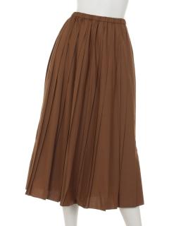 セミロングプリーツスカート