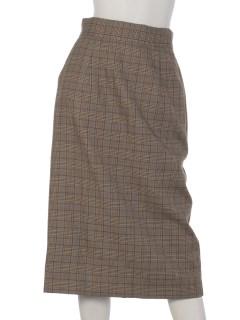 グレンチェックナロースカート