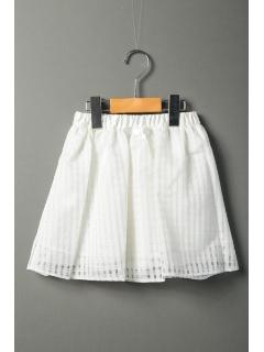 チェック&プリーツリバーシブルスカート