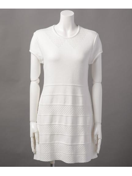 67%OFF Mademoiselle TARA (マドモアゼルタラ) ニットワンピース ホワイト