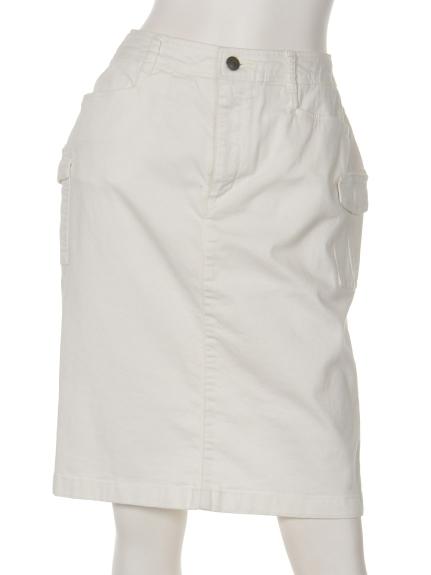 MICHEL KLEIN (ミッシェルクラン) カーゴタイトスカート ホワイト