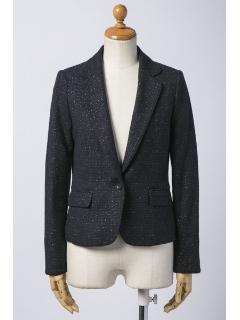 ラメツイードテーラードジャケット