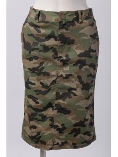 迷彩プリントタイトスカート