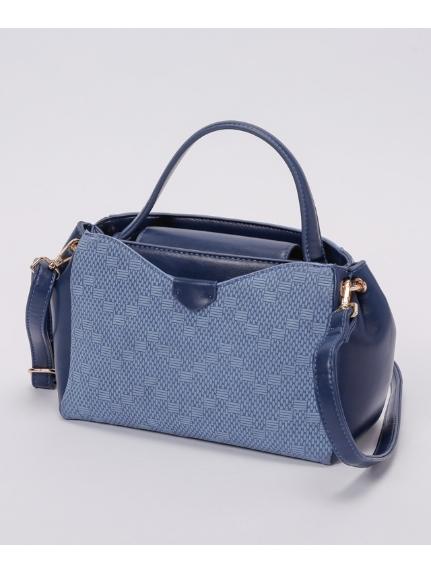 MK MICHEL KLEIN BAG (エムケーミッシェルクランバッグ) トートバッグ ブルー