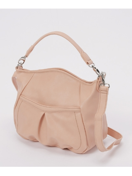 MK MICHEL KLEIN BAG (エムケーミッシェルクランバッグ) 2WAYバッグ。 ピンク