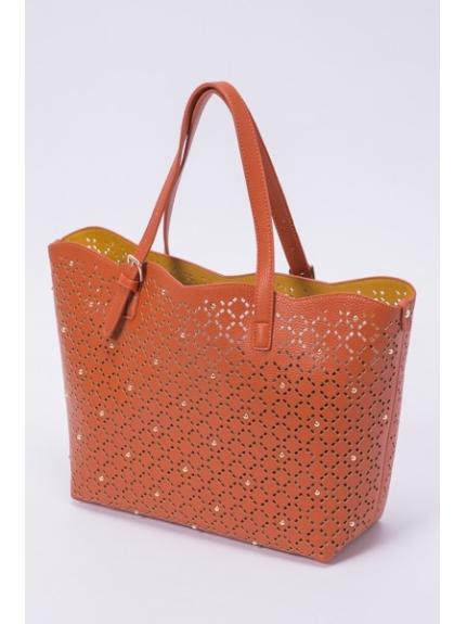 MK MICHEL KLEIN BAG (エムケーミッシェルクランバッグ) 2WAYバッグ オレンジ