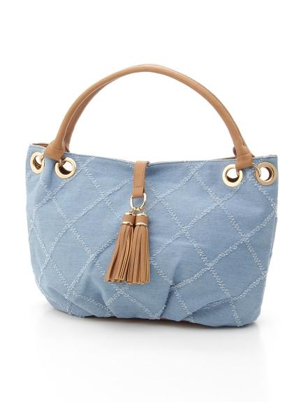 MK MICHEL KLEIN BAG (エムケーミッシェルクランバッグ) 【MKバッグ】ショルダーバッグ ブルー
