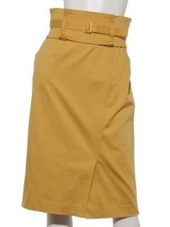 【洗える】サッシュベルト付きタイトスカート