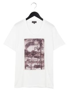 3DプリントVネックTシャツ