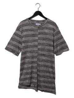 カスレボーダー段違いTシャツ