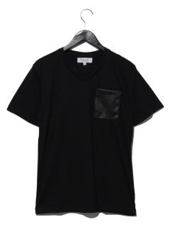 パンチングレザーポケットTシャツ