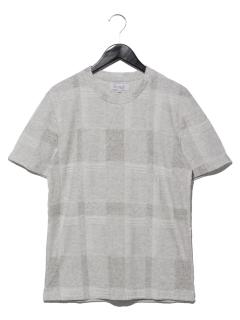 ランダムパイルチェックTシャツ