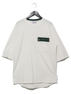 ZIPポケットルーズTシャツ