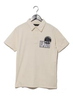 いたずら書きワッペン付きポロシャツ