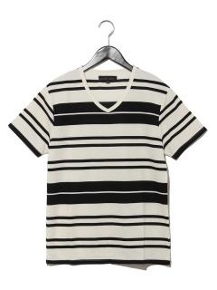 リップルランダムボーダーTシャツ