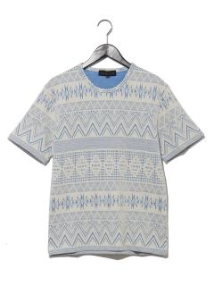 オルテガリップルジャガードTシャツ
