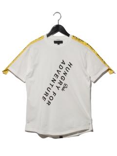 ロゴ入りラインテープTシャツ