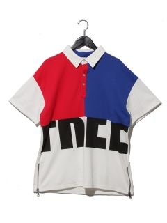 サイドZIPポロシャツ